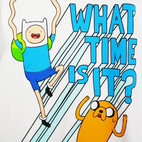 Adventure Time What Time Is It Mens Tee