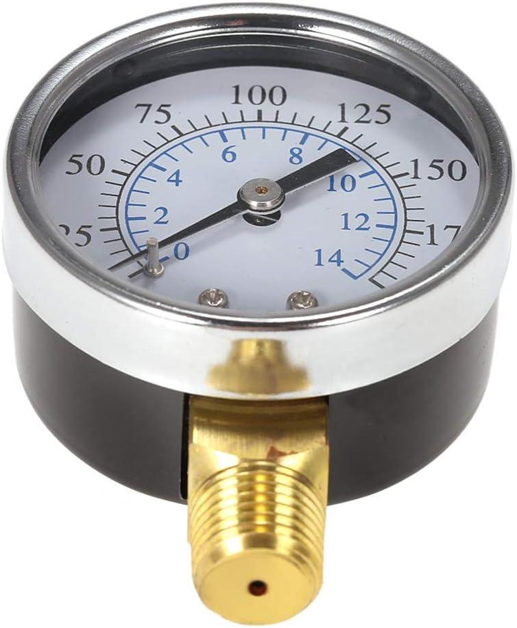 200psi// 14bar 1//8 NPT Air Hydraulic Pressure Gauge 0-200 PSI 0-14 Bar Side Mount Manometer