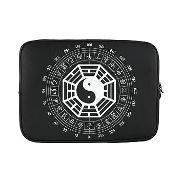 """Popular caracteres chinos Yin y Yang Funda para portátil para ordenador portátil de 15 """""""