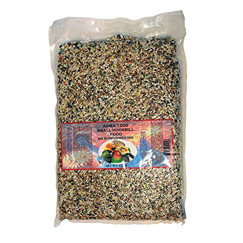 ABBA 1200 Bird Foods Small Hookbill No Sunflower Mix 5lbs ()
