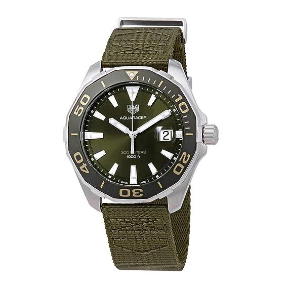 TAG Heuer Aquaracer - Reloj de pulsera para hombre, 43 mm, con correa textil