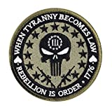 Tyranny Law Rebellion Punisher Skull Tactical Morale Hook+Loop Patch G4