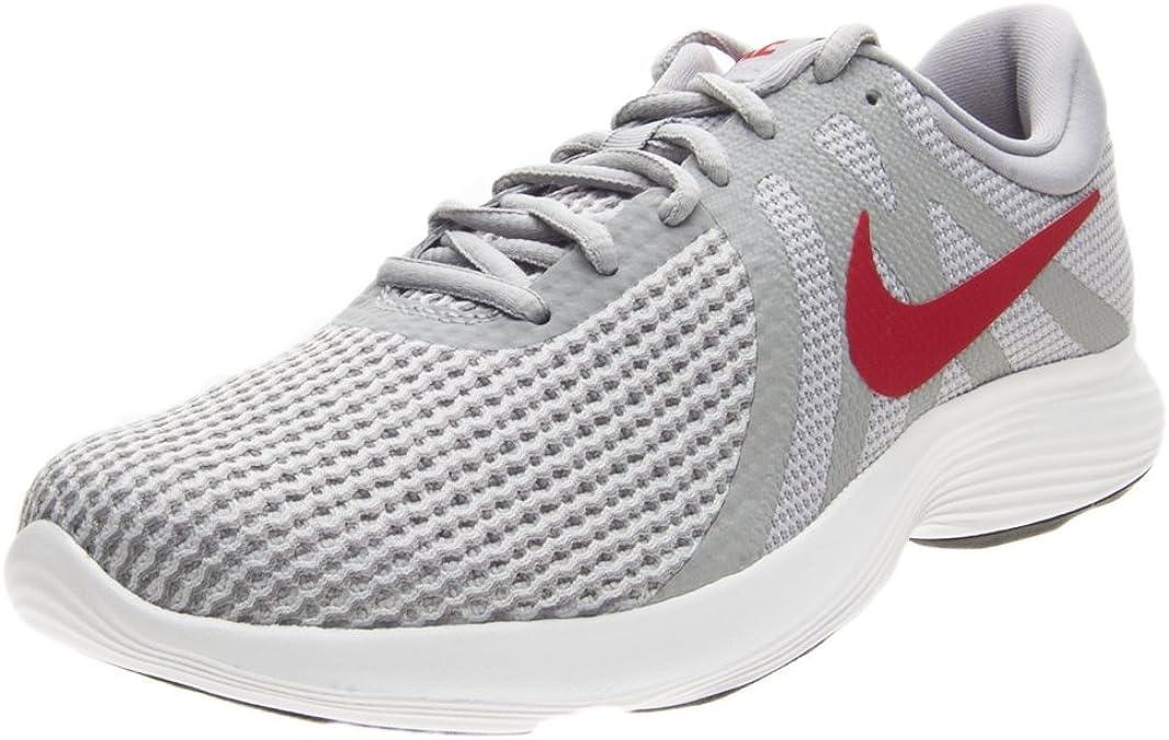 Nike Revolution 4 EU, Zapatillas de Running para Hombre, Multicolor (Wolf Grey / Gym Red-St 006), 45 EU: Amazon.es: Zapatos y complementos