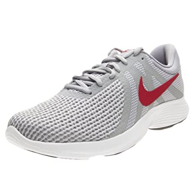 separation shoes ef2cf f003d Nike Unisex Adults  Zapatillas De Running Revolution 4 EU Fitness Shoes,  Grey Red  Amazon.co.uk  Sports   Outdoors