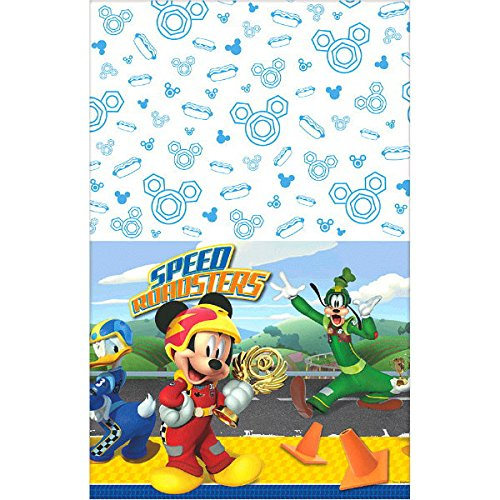 Cups Table Cover and Birthday Candles Lobyn Value Packs Beverage Napkins Disney Mickey Roadster Party Supplies Pack Serves 16: Dessert Plates