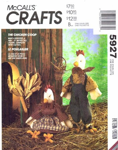 McCall's 5927 Crafts Sewing Pattern Chicken Rooster Dolls Clothes