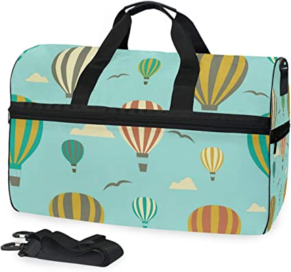 FAJRO Duffle Bag for Women Men Green Stars Travel Duffel Bag Large Size Water-proof Tear Resistant