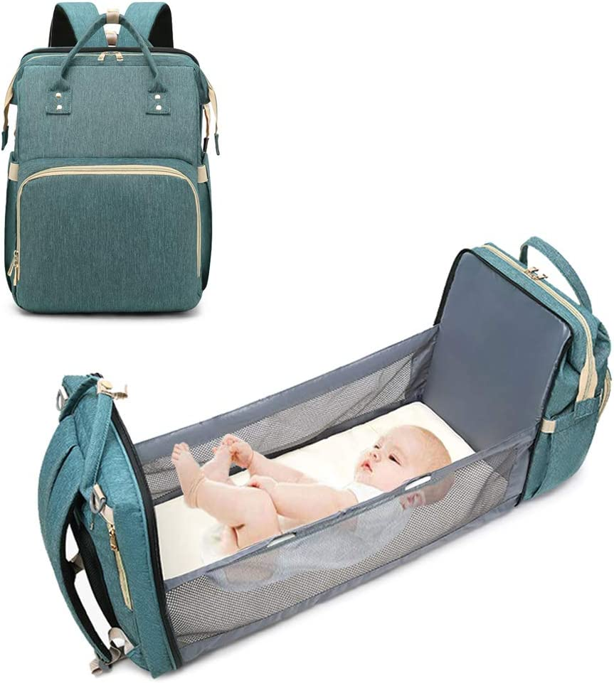 CATSAYS 3 in 1 Diaper Bag with Changing Station Baby Travel Sleeping Bag Baby Nest with Mattress Travel Bassinet Baby Bed for Toddler Travel Crib Infant Sleeper