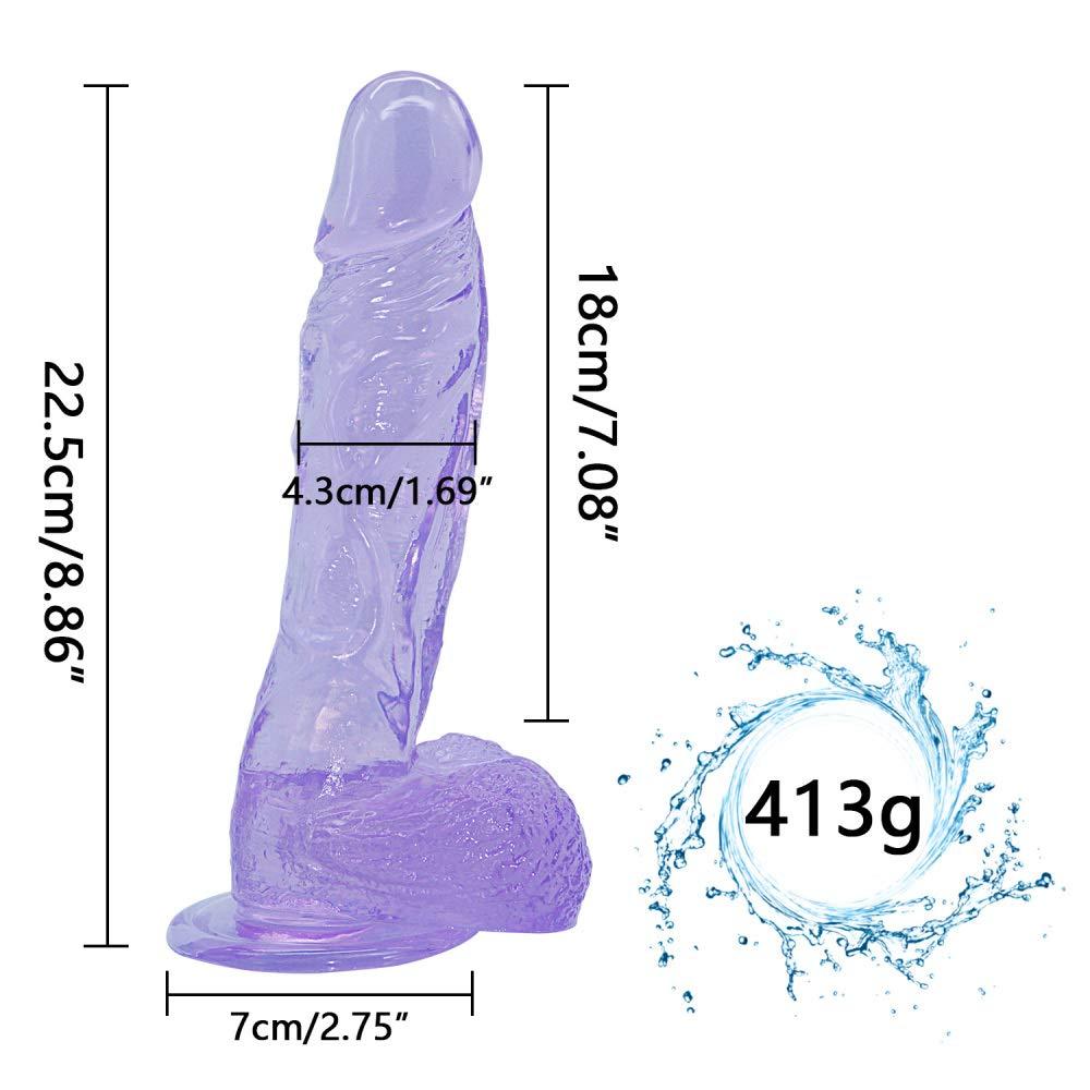 Lifelike 8.86-inch Huge Female Body Relaxing Wand Free Female - Blue - Quanzhirufen3.0 by Full