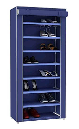 Home Basics Multipurpose Portable Dust Free Wardrobe Storage Closet Rack For  Shoes And Clothing 7 Tier