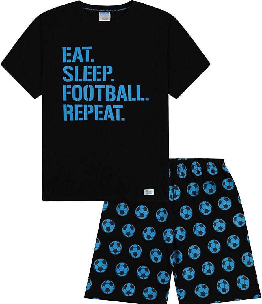 The PyjamaFactory unisex Pigiama corto in cotone colore: blu