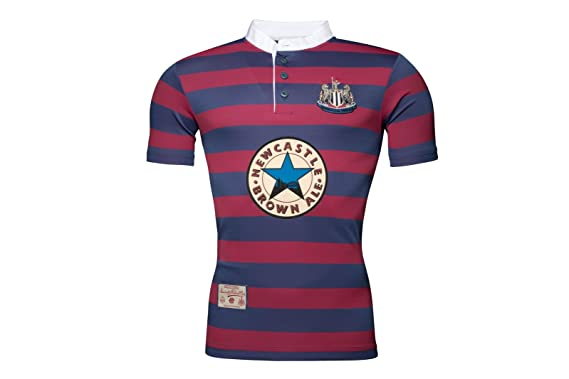 3f57f5ec57b Newcastle United 1996 Away Retro Football Shirt - Navy Burgundy - Size S   Amazon.co.uk  Clothing