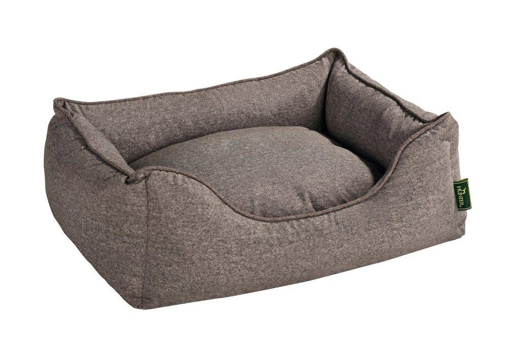 HUNTER Boston 61432 perro cama tamaño S espacio exterior 63 x 55 x 20 cm interior cojín 52 x 42 cm, color marrón: Amazon.es: Productos para mascotas