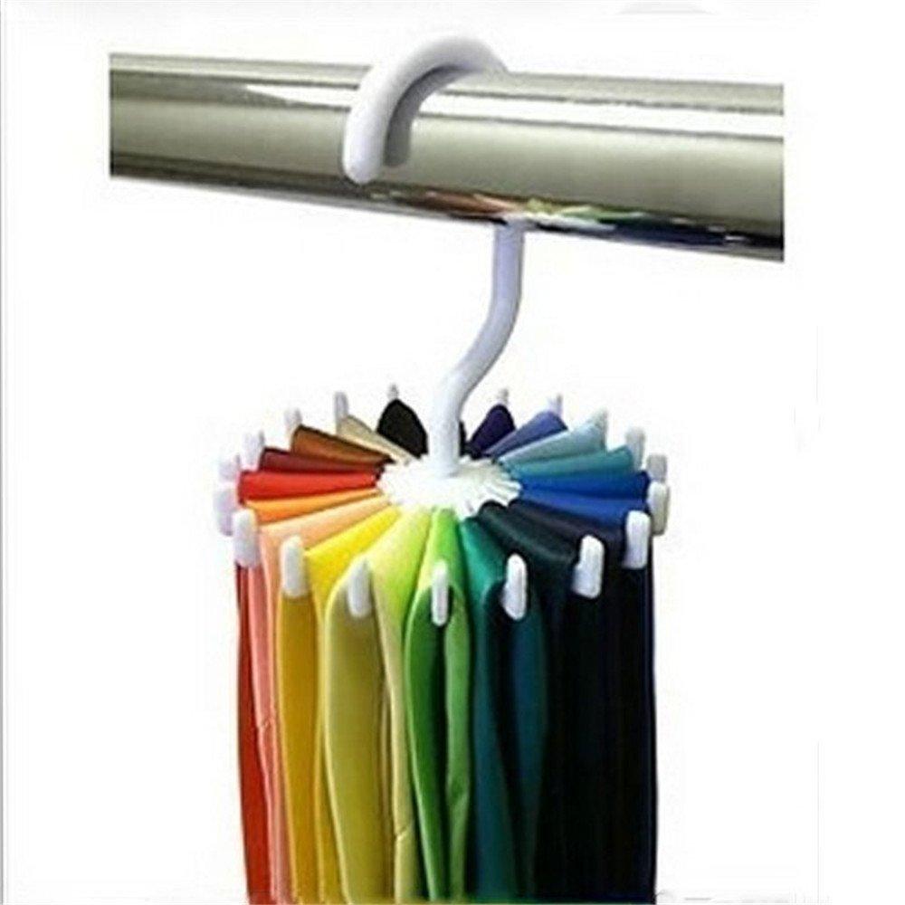 MAXGOODS 360 Degree Rotating Twirling Tie Rack Hanger Organizer, 2-Pack