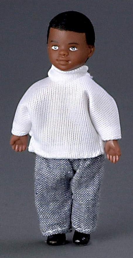 Miniature Dollhouse Black Free Standing Cel Phone