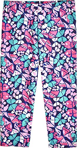 Coolibar UPF 50+ Kids' Wave Swim Capris - Sun Protective (X-Large- Multicolor Butterflies) ()