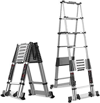 Extensibles Escalera Heringbone - Escalera telescópica - Escalera de aluminio Loft Step Loft - Escalera plegable para interiores al aire libre - 4 tamaños (Size : 4.05m+4.055m): Amazon.es: Bricolaje y herramientas