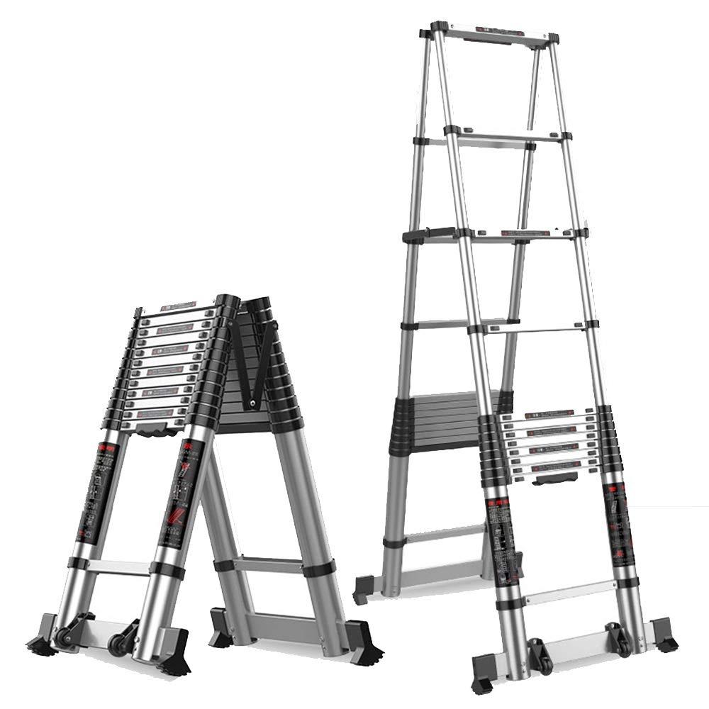 延長はしご Heringbone Ladder - テレスコピックラダー - アルミDIYステップロフトラダー - 室内用折りたたみ式ラダー - 4サイズ (Size : 2.5m+2.5m) B07Q3KFL3R  2.5m+2.5m