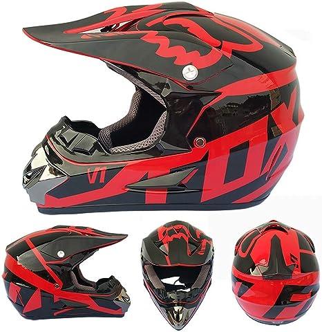 Motorradhelm Cross Helme Motocross Helm Crosshelm Schutzhelm Kinder f/ür Motorrad Crossbike Off Road Enduro Sport mit Brille Handschuhe und Sturmmaske MRDEAR Wei/ßer Hai