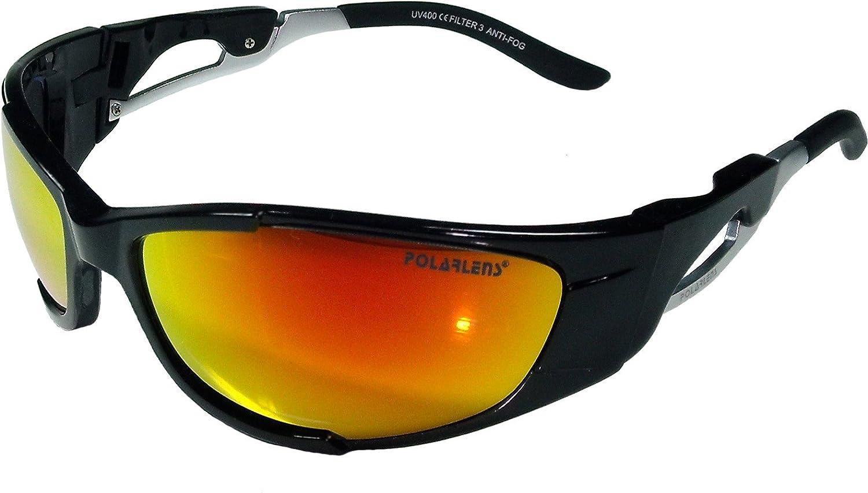 POLARLENS SERIES P17-01 Skibrille/Snowboardbrille / Sonnenbrille mit FLASH-MIRROR-Verspiegelung + Microfaser-Tasche mit Putztuch-Funktion !