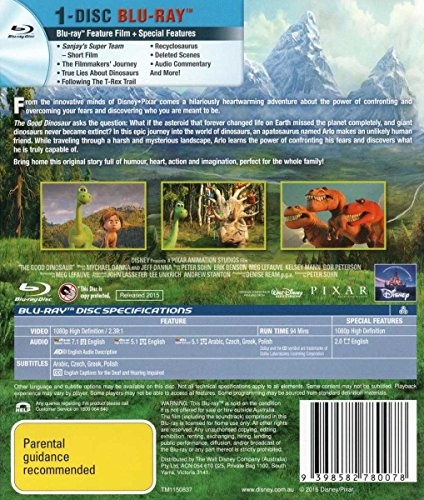 The Good Dinosaur [All Region Blu-Ray - Import Australia]
