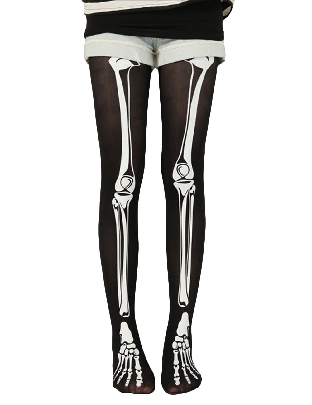 THEE Socks Skeleton Stockings Halloween Costume