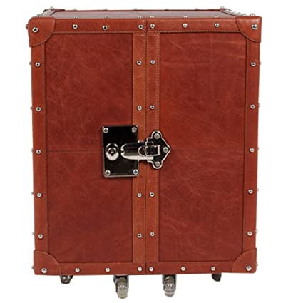 Home Decor genuine leather Stylish Bar Cabinet With Wine Glass Storage. Movable bar unit with wheels