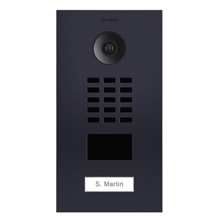 Anthrazit Doorbird D2101V Video-T/ürsprechanlage IP mit RFID