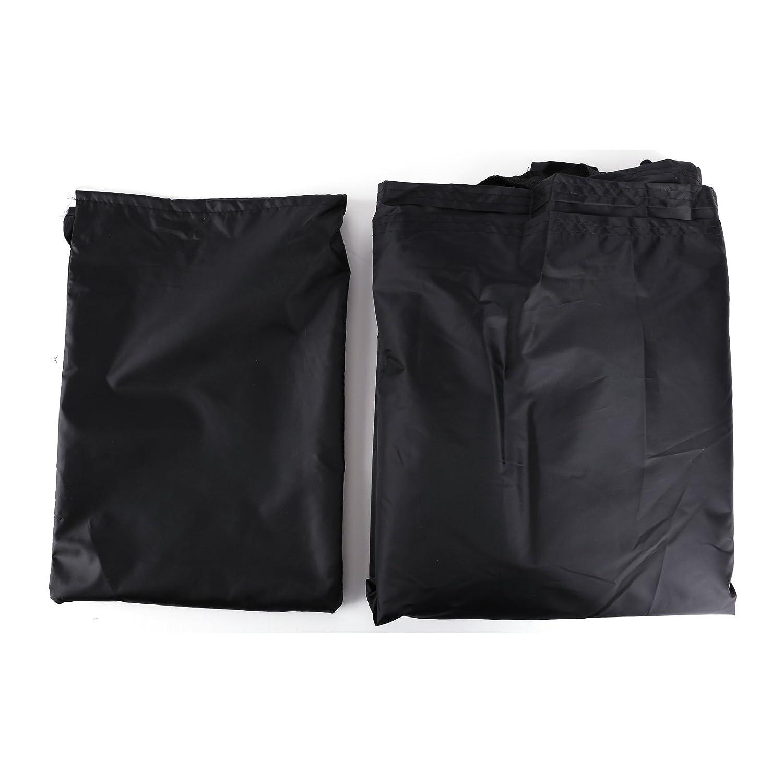 negro y naranja Funda Cubierta Protector de Polyester para Motocicleta Moto 240x 140cm con Bolsa para Guardar