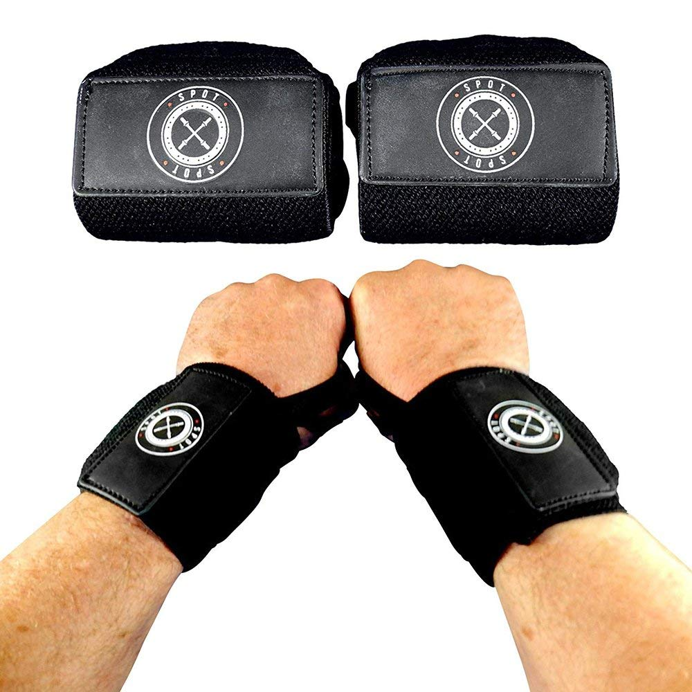 Spot Lion Fitness Wrist Wraps (Professional Quality) Powerlifting, Bodybuilding, Weight Lifting Wrist Supports for Weight Training - Solid Black - Lot of 100.
