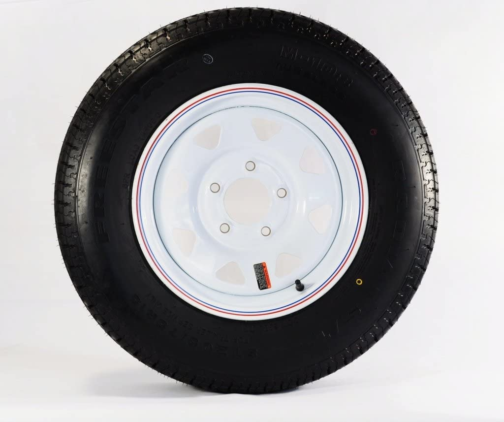 13 x 4.5 White Spoke Trailer Wheel 5-4.5 Bolt Pattern