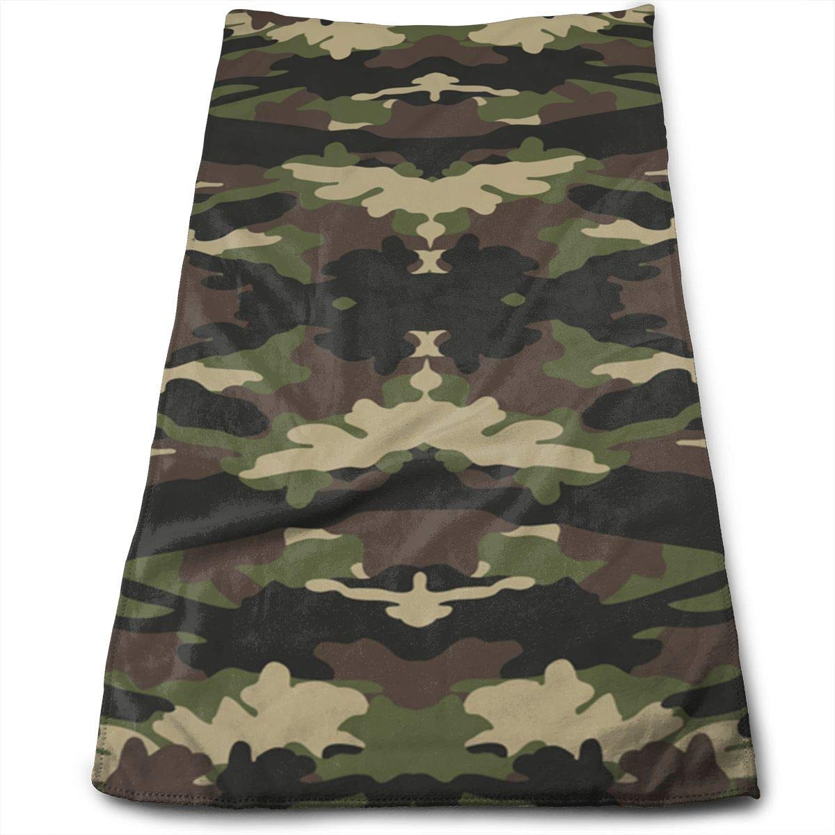 Osmykqe Camouflage Cotton Bath Towels for Hotel-Spa-Pool-Gym-Bathroom Super Soft Absorbent Ringspun Towels