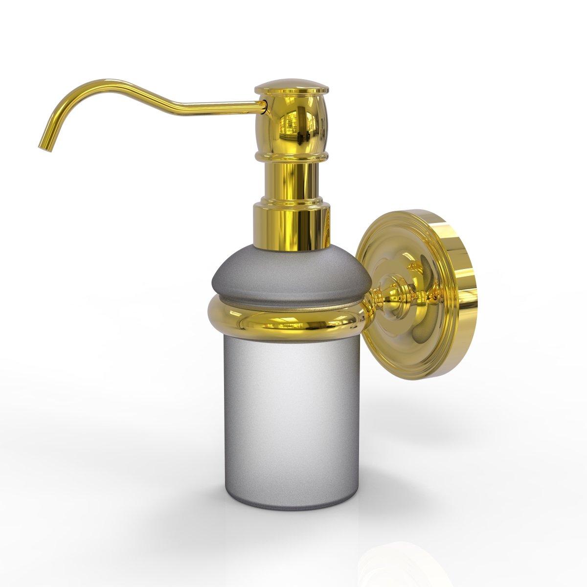 Allied真鍮Prestige Regal壁マウントソープディスペンサー PR-60-UNL B01N2WMMVDラッカーなし真鍮