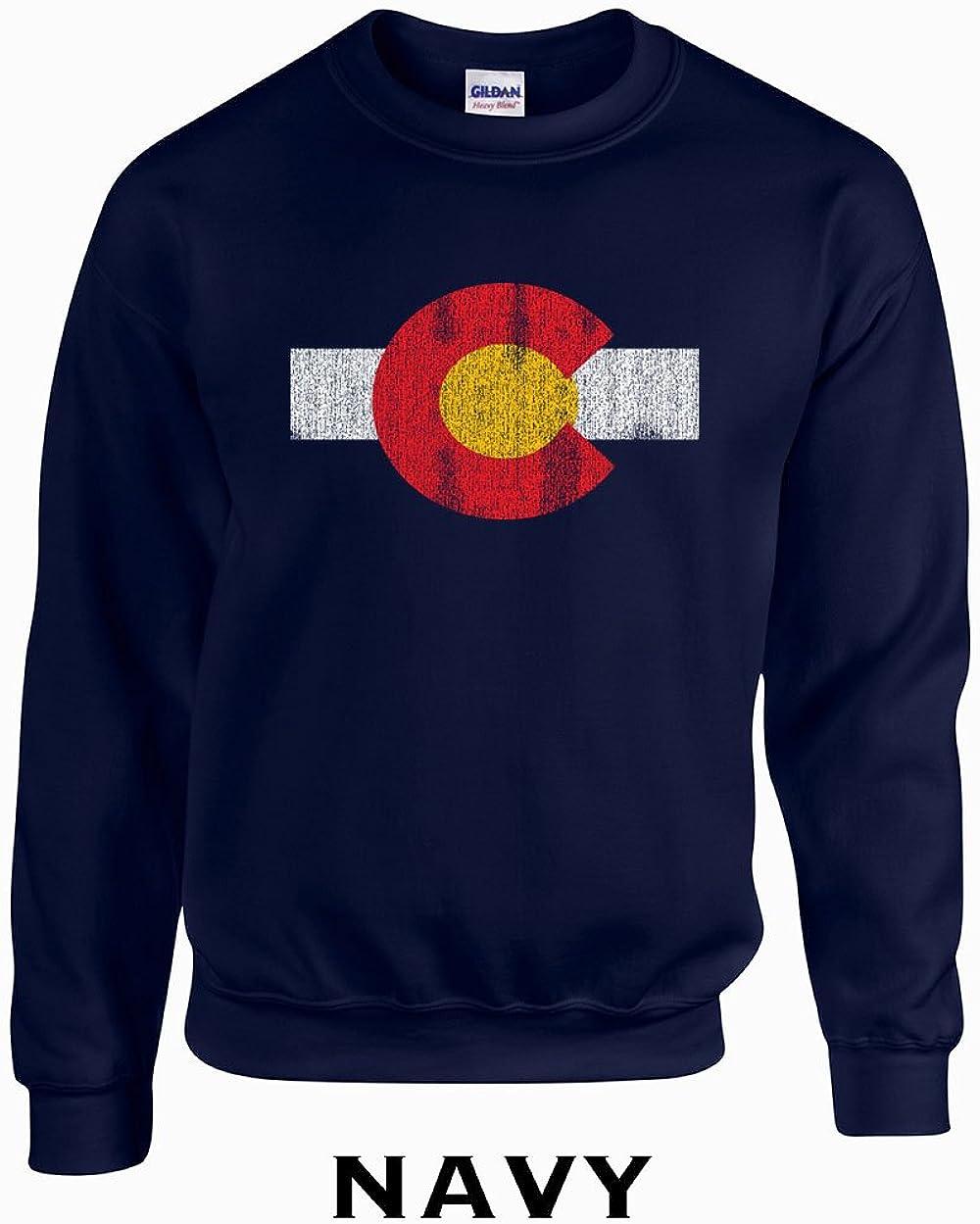 Swaffy Tees 451 Colorado Flag Funny Hooded Sweatshirt
