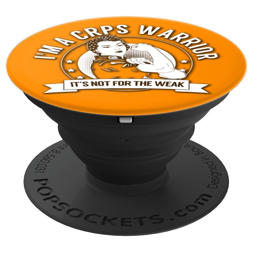 CRPS Warrior NFTW - Complex Regional Pain Syndrome Awareness - PopSockets Grip and Stand for Phones and Tablets by The Unchargeables