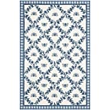 Transitional Rug - Chelsea Wool Pile -Ivory/Blue Style-E Ivory/Blue/Transitional/12'L x 2' 6''W/Runner
