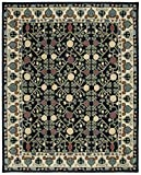 Safavieh HG740N-8 Heritage Collection Premium Wool Area Rug, 7'6″ x 9'6″, Navy/Ivory Review