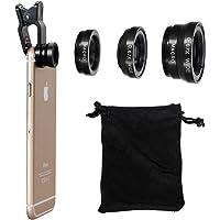Vi-GO,Objectif Smartphone,lentille mobile,3en1 kit de lentille de caméra de téléphone portable,2en1Micro Lens + Super Angle Grand Angle,universel peut s'appliquer à IPhone,SUMSUNG Smart-Phone et etc
