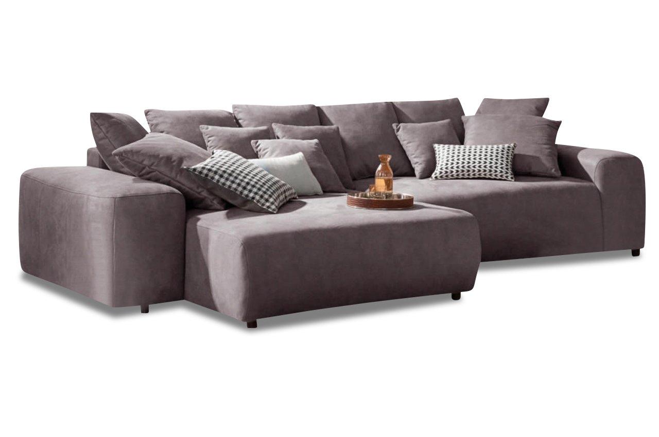 Sofa Xxl Polsterecke Glamour Mit Bett Luxus Microfaser Anthrazit