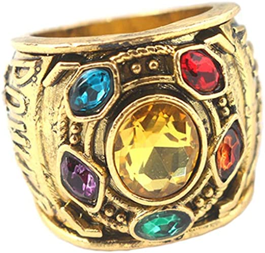 Fashion Thanos Metal Infinity Stones Ring Halloween Cosplay Party Costume Props