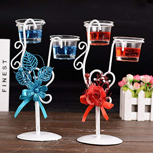 Rose Jelly Crystal Craft Valentine's Day Candlelight Dinner Wedding Gifts Candle Holder With Romantic Decoration