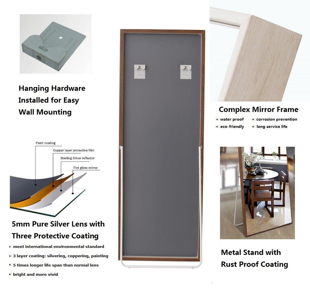 CrossROBBIN Thin Frame Floor Mirror /(Brown, 65x22/) 65x22/) 1-34206T