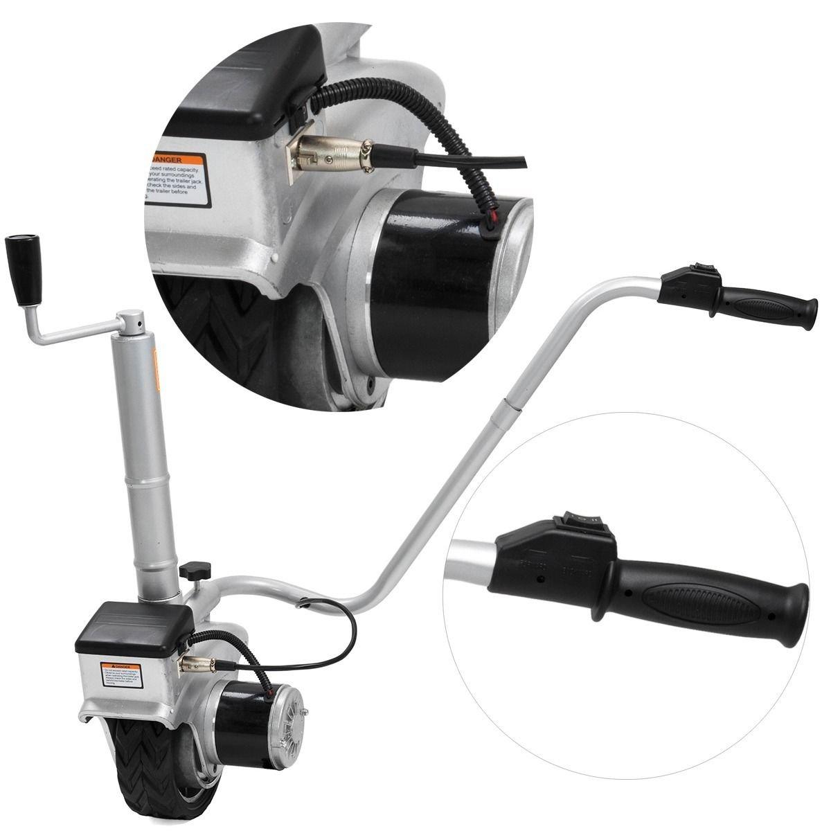 New 12V Electric Mini Mover Jockey Wheel Caravan Boat Trailer Camper jack stands