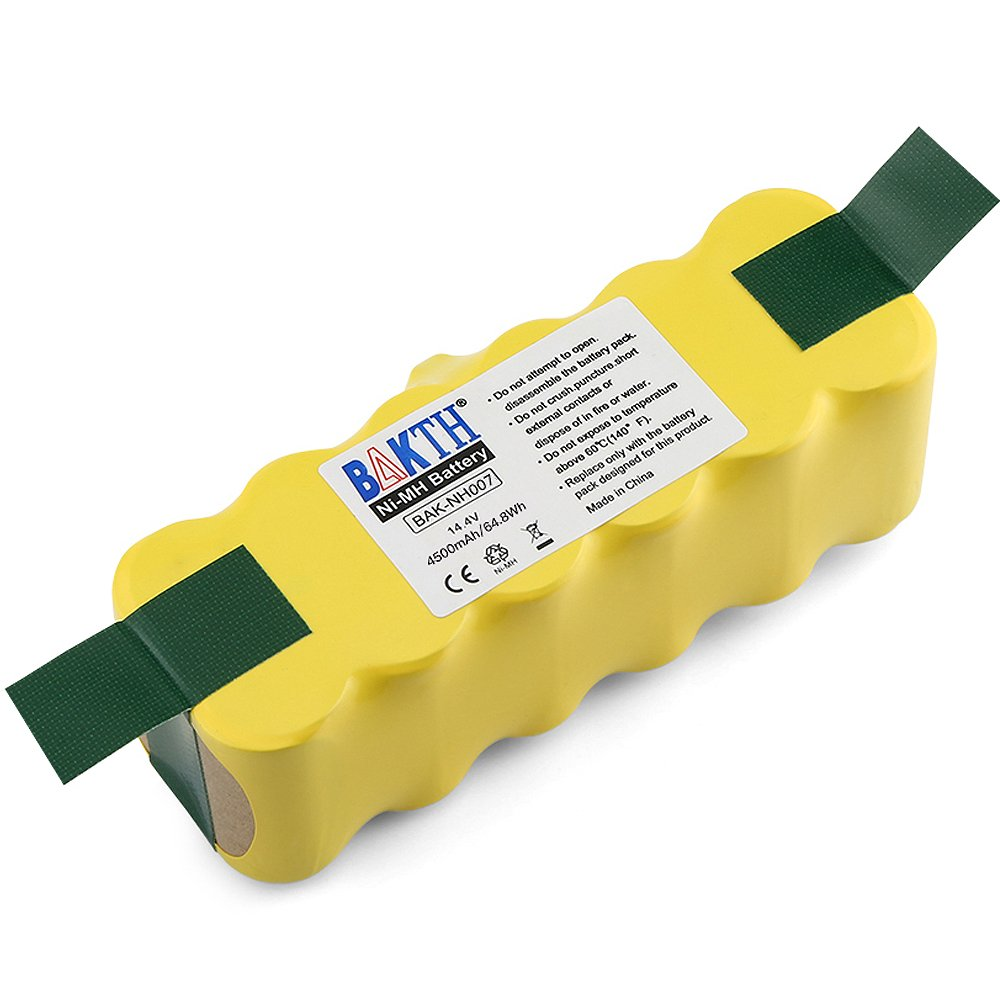 BAKTH 4500mAh 14.4V Ni-MH APS Replacement Battery for iRobot Roomba 500 510 520 530 532 535 540 545 550 552 555 560 562 570 580 581 582 585 595 600 620 630 631 650 660 700 760 770 780 790 800 870 880