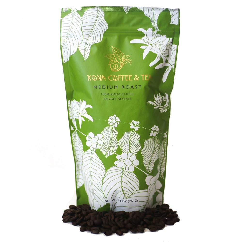 Medium Roast (1-14oz Bag) - 100% Kona Coffee : FIRST PLACE WINNER 2018 Kona Coffee Cultural Festival's Crown Division • Single Estate • 2-Day FedEx