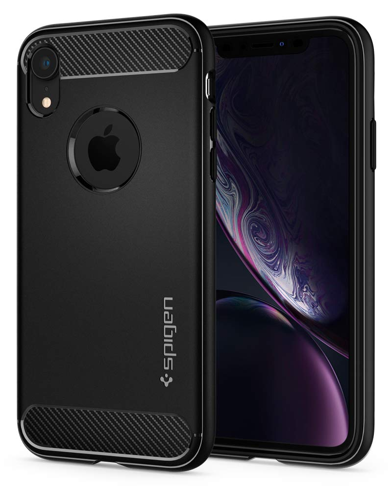 Funda Spigen iPhone XR [Matte Black] Rugged Armor