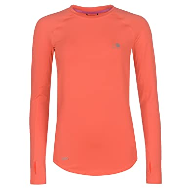 c6c291bc9c3999 Karrimor Womens Xlite Long Sleeve Running Top Performance Shirt Crew Neck  Coral 6 (XXS)  Amazon.co.uk  Clothing