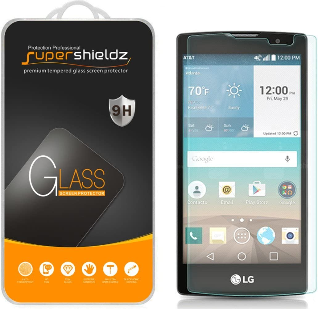 Supershieldz (2 Pack) for LG Escape 2 Tempered Glass Screen Protector, Anti Scratch, Bubble Free
