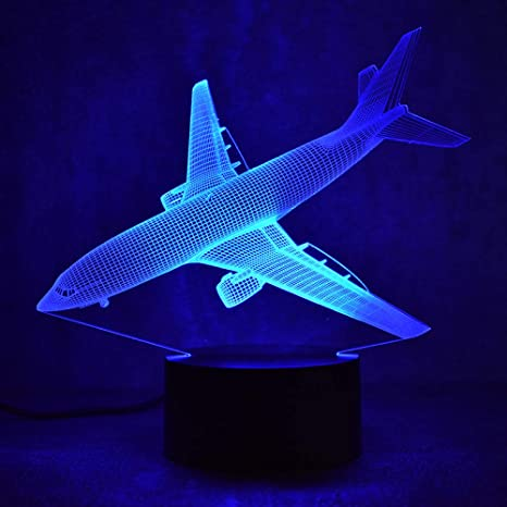 Lámpara de la ilusión 3d wangZJ/cambio de 7 colores/luz de ...