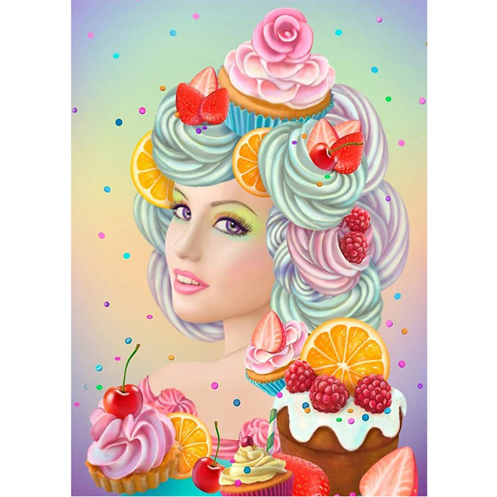 Crafts /& Sewing Cross Stitch DDLmax Special Shapes 5D DIY Diamond Painting Beauty Rhinestone Pictures of Crystals Embroidery Kits Arts